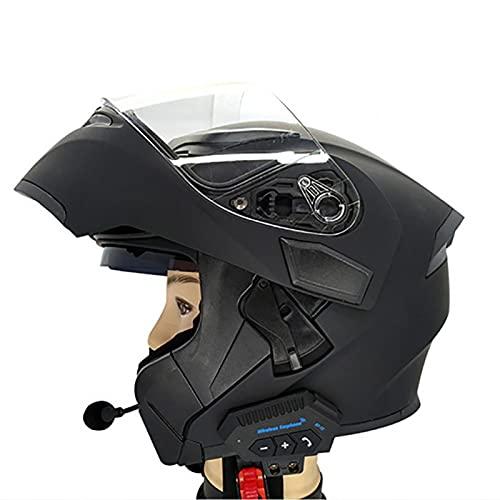 Yius Casque de Moto Bluetooth Adulte, Casque Micro Bluetooth BT-12, Casque intégral de Moto modulable Bluetooth, pour Homme et Femme en Toutes Saisons