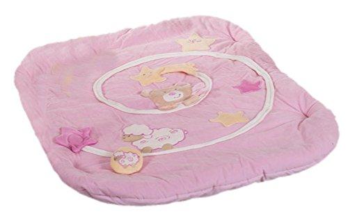 Bieco 02-013100 - Krabbeldecke Petrilla, rosa, ohne Spielbogen, Erlebnisdecke