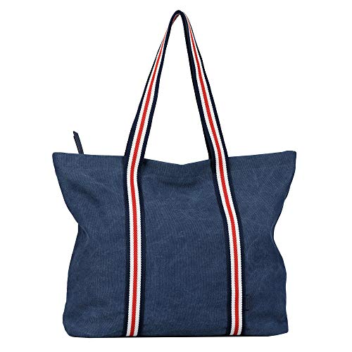 Tom Tailor MIA, Shopper para Mujer, Azul Oscuro, Large