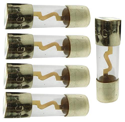 AERZETIX: Lot de 5 fusibles AGU pour sono auto voiture ampli sub subwoofer (10A)