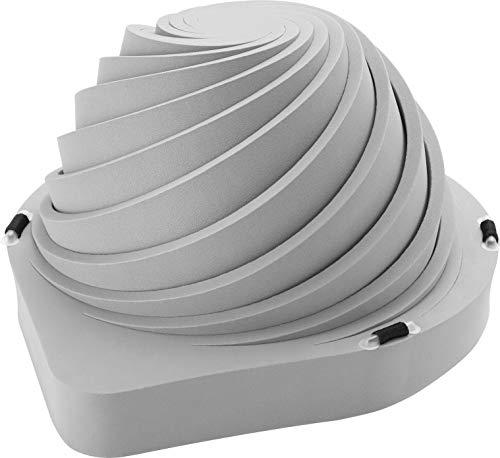 タイカ 防災頭巾 でるキャップ コンパクトタイプ 1枚入り 頭囲54~62㎝用 グレー 頭で押して簡単装着 DC-C-01