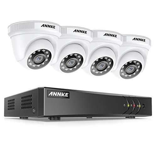 ANNKE Kit de Seguridad 8CH 5MP Lite H.265+ DVR sin Disco Duro de Videovigilancia CCTV 4 Cámara Sistema de Vigilancia 1080P IP66 Impermeable Visión Nocturna - sin HDD