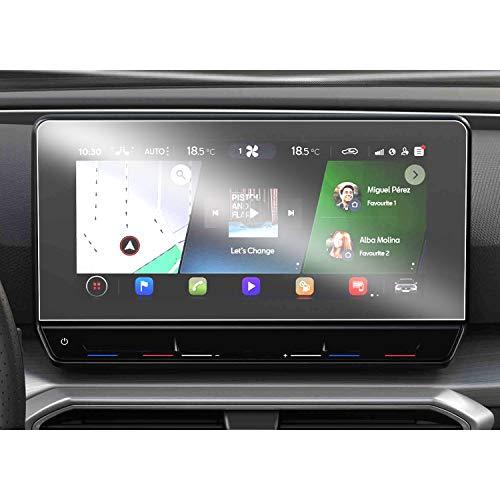 SHAOAHO - Protector de pantalla para navegador de coche para Seat Leon MK4 GPS, PET, transparente, 4H, resistente a arañazos y antihuellas, 2 unidades