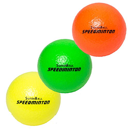 Speedminton® Superball 3er Pack, Ø 7cm