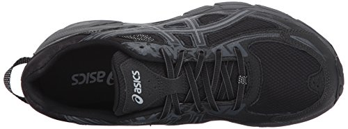 ASICS Mens Gel-Venture 6 Running Shoe, Black/Phantom/Mid Grey, 11 4E US