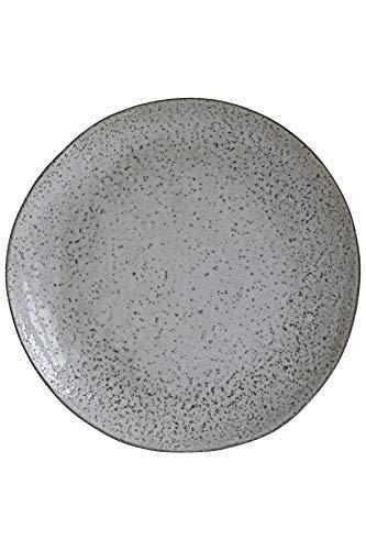 House Doctor Hc0800 Speiseteller, rustikal Dia: 27,5 cm, H.: 2,8 cm grau
