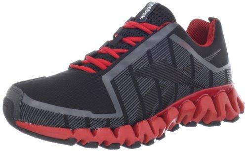 Reebok Men's ZigWild TR 2-M Running Shoes Gravel / Black / Red - 6.5 D(M) US