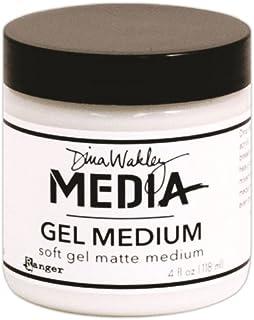 Dina Wakley Media Gel Medium 4oz Jar - finitura Opaca