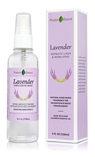 Positive Essence Lavender Pillow and Room Spray, Natural Essential Oil Linen Spray