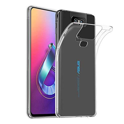 NUPO Hülle für ASUS ZenFone 6 ZS630KL Transparent Soft Silikon Handyhülle Crystal Durchsichtige Schutzhülle TPU Hülle Cover für ASUS ZenFone6 ZS630KL