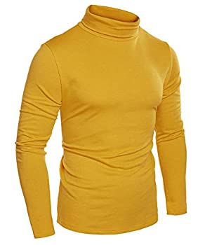Best mens yellow turtleneck Reviews