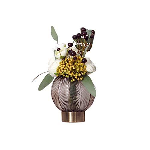 Arrangement Silk Flower met decoratieve vaas Plant met Real Looking Plant Centerpiece Décor (Size : A)