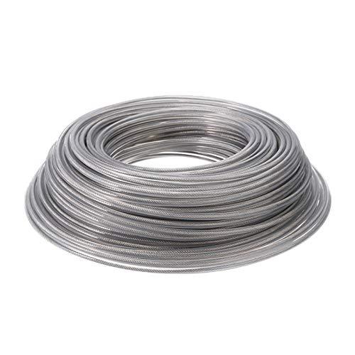 XIAOFANG Fangxia Store 45m 3 mm Diámetro Cuerda de Alambre de Cable de línea Cortadora de cesped línea Interior con Alambre de Acero desbrozadora la línea de Nylon for el jardín Herramientas Parte