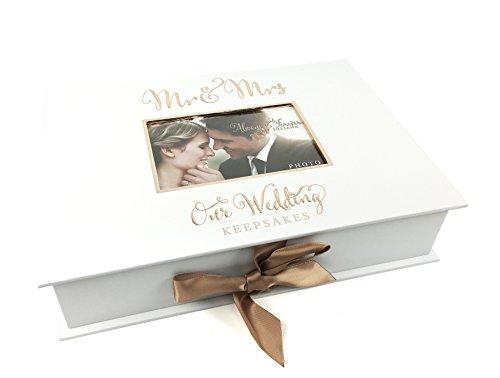 ukgiftstoreonline, scatola regalo per matrimonio con Mr and Mrs