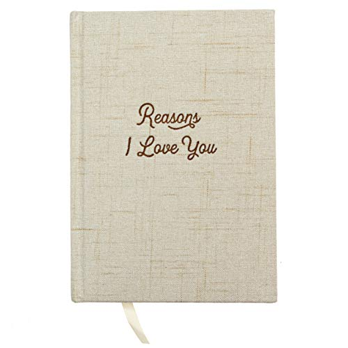 Avocado Goods Reasons Why I Love You Hardcover Linen Journal Book for Boyfriend or Girlfriend, Husband or Wife, Bride & Groom, or Couples Gifts Notebook