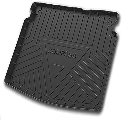JJZRB Coche Alfombrillas Maletero, para Jeep Compass 2017-2020 Rear Trunk Cargo Protección Impermeable Antisuciedad Alfombras Arranque Boot Mats, Car Interiores Accesorios