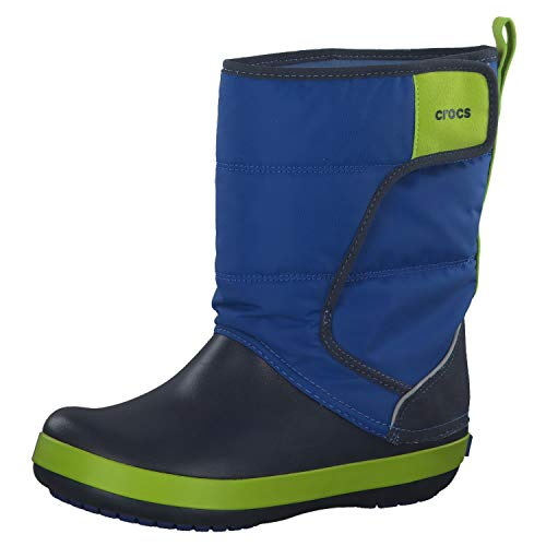 Crocs Lodgepoint Snow Boot, Bottes de Neige Mixte Enfant Gris (Slate Grey/ocean) 38/39 EU
