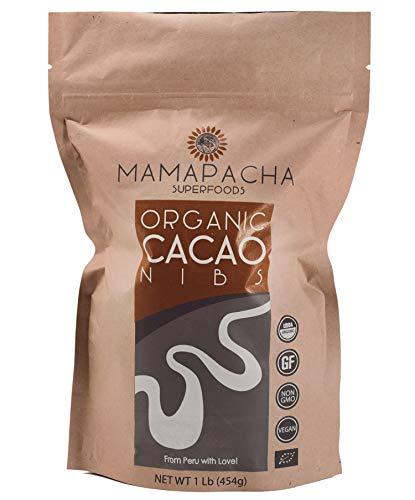 Raw Cacao Nibs Organic Unsweetened | Premium Peruvian Cacao Nibs 1Lb |...