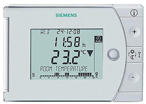 Siemens; REV24; Cronotermostato digital push and roll con programación semanal 1a7