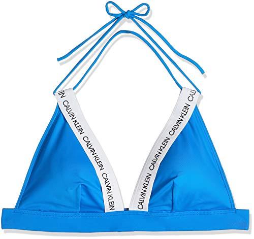 Calvin Klein Fixed Triangle-rp Almohadillas y Rellenos de Sujetador, Azul (Blue Aster CBP), M para Mujer
