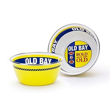 Enamelware - Old Bay Pattern - 3 Cup Salad Bowl