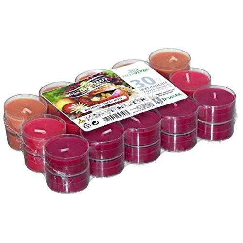 VILLAVERDE 30er Flatpack Duft Teelichter Winter Weihnachten Kerzen Deko Hülle, Variante:Bratapfel