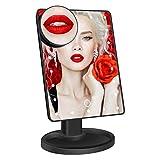 Miroir de Maquillage 22 lumières LED de 180 degrés Miroir à Trois Volets Contrôle Tactile Miroir à Grossissement Elevé Définition Cosmétique