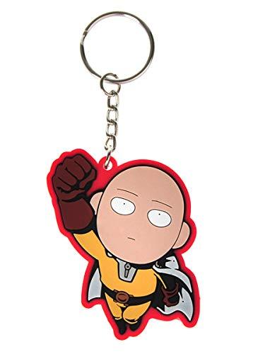 CoolChange One Punch Man Schlüsselanhänger mit Saitama Chibi Figur aus PVC