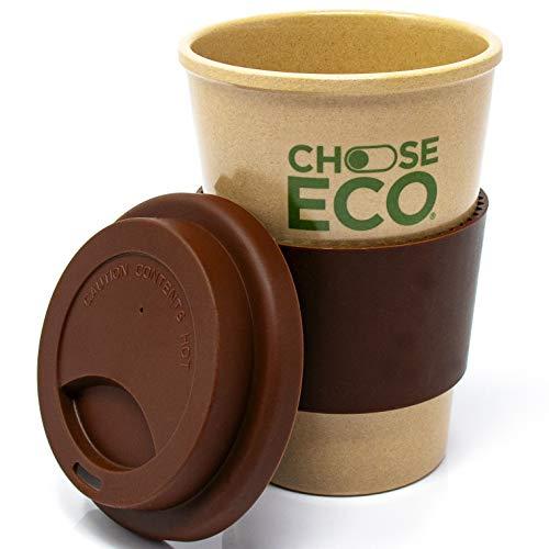 ChooseEco   Mug de Café en Matière Bio 435ml Marron   100% d'Origine Végétale - 0% Plastique - 0% BPA   Écologique & Durable & Compostable & Réutilisable   Tasse en Cosses de Riz