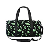 MUOOUM Green Alien UFO Moon Sports Gym Bag Travel Duffel Bag for Women and Men Luggage Handbag …