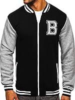 BOLF Men's Plain Sweatshirt Zip Basic Sport Casual Style Mix 1A1