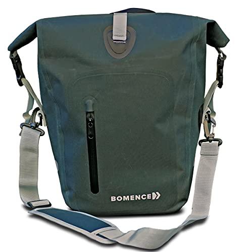 Bomence Fahrradtasche für Gepäckträger 100% wasserdicht, Satteltasche für Fahrrad, Radtasche, Gepäckträgertasche groß, matt, Easy-Lock 25L, Single