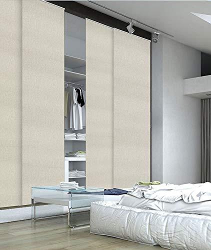 MADECO - Kit de riel y panel japonés, 220 x 250 cm, color gris
