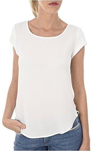 Only Onlvic S/s Solid Top Noos Wvn Camiseta, Blanco (Cloud Dancer Cloud Dancer), 42 para Mujer