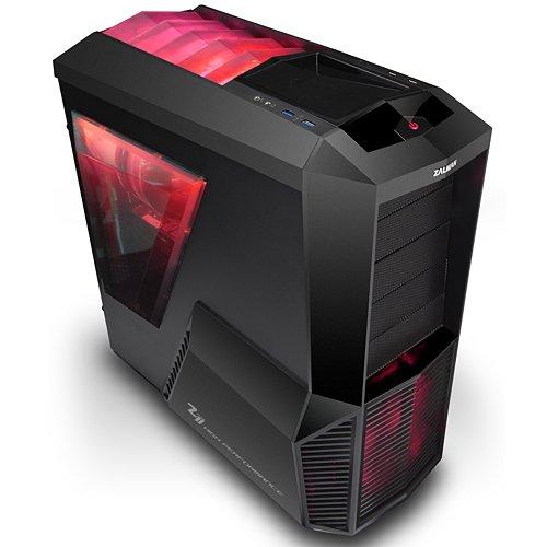 Zalman Z11 Plus HF1 Midi-Tower PC-Gehäuse mit Fenster für 7X Lüfter (ATX, 4X Externe 5,25, 5X interne 3,5, 2X USB 3.0, Keine Stromversorgung)