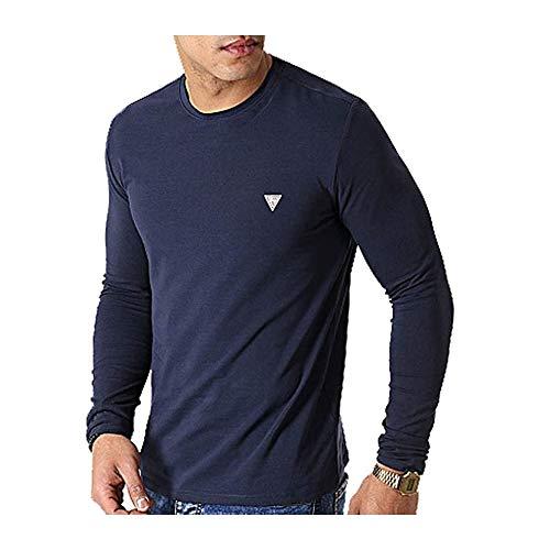 Guess UOMO T-Shirt Super Slim BLU Navy Mod. M0YI28 J1300 S