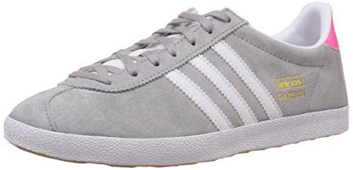 adidas Damen Gazelle OG Sneakers, Grau (MGH Solid Grey/FTWR White/Solar Pink), 40