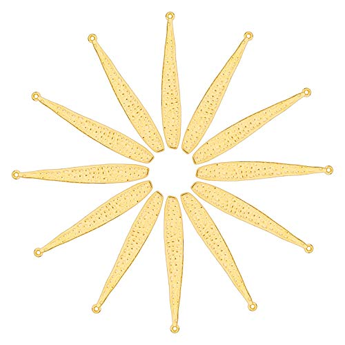ARRICRAFT 100個 ゴールデン合金ペンダント メタルビーズ 野球 バット チャーム ジュエリーファインディング ネックレス ブレスレット イヤリング ジュエリーメイキング用