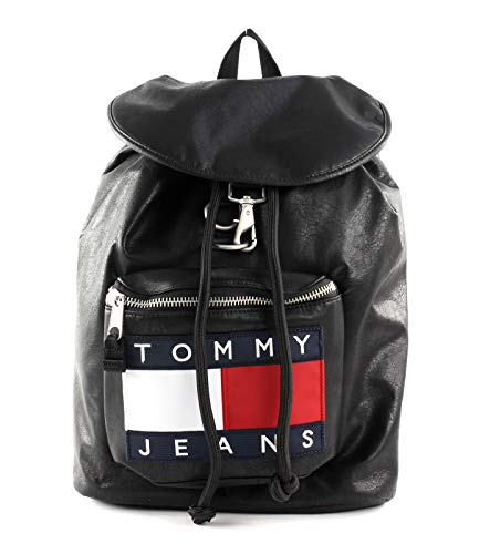 Tommy Hilfiger TH Heritage Leather Backpack Black