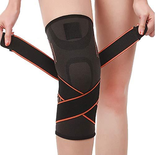 JLTPH Unisex Kniebandage mit mit Einstellbarem Druck-Riemen Knieorthese, Sportbandage Rutschfeste Knieschoner Knieschützer für Gymgears Fitness Volleyball Bike Handball Joggen