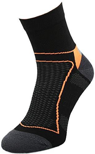 Comodo - Radsport-Socken für Damen in Schwarz / Orange, Größe 39-42