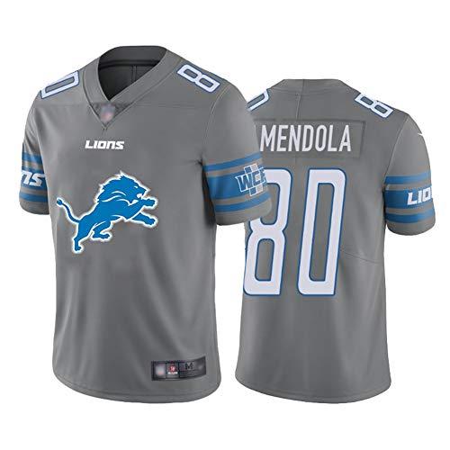 Amendola Herren American Football Trikot 80#, Herren Rugby Trikot Tragen Sie Bequeme und atmungsaktive Trikots Sweatshirts-Grey-S