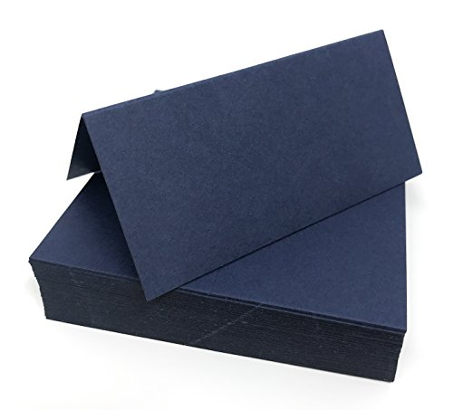 100 Navy Blue Matte Name Place Cards, Ideal for Parties Or Weddings from Pocketfold Invites LTD