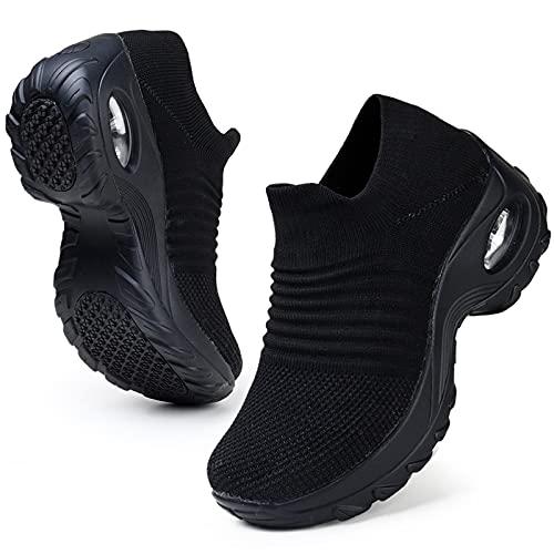 HKR Womens Walking Shoes Slip On Light Weight Mesh...