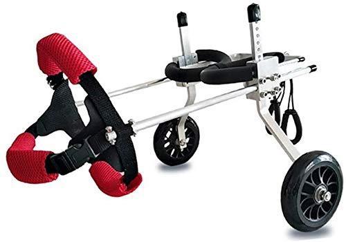 Perros Silla de Ruedas para Mascotas Perro de mascota silla de ruedas de la compra de ciclomotores Gato carretilla Formación del cochecito del coche ligero Movilidad Arnés ajustable Rehabilitación pie