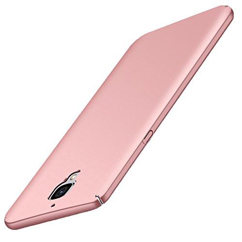 GOGODOG OnePlus 3 / 3T Funda Cobertura Total Ultra Delgada Mate Anti Resbalón Rasguño Resistente para One Plus 3 / 3T (Rosado)