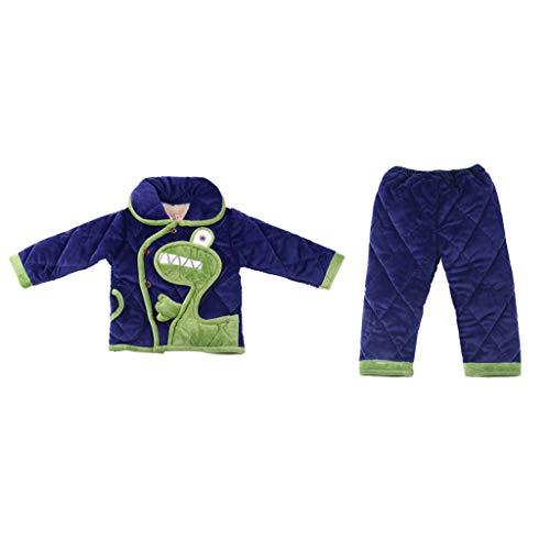 YWSZJ Moda Ropa de Dormir niños niños Pijamas para Chico Pijamas Grandes Chicas Puntadas Pijamas Conjunto Animal Prendas de Dormir Lindo Invierno (Size : 140cm)