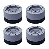 FENLDY Washer and Dryer Pedestals Machine Anti Vibration Damping Isolation Foot Pads 4 PCS Stacked Washing Mechanical Support Vibration Damping Balance Pad Sets Leveling Rubber Feet Grounding Mat