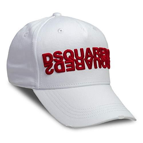 DSQUARED2 D2 - Gorra de béisbol, color blanco