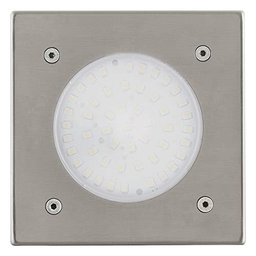 Eglo 93481 Éclairage extérieur Lampe de sol à encastrer LED LAMEDO Diamètre 10 cm, acier inoxydable